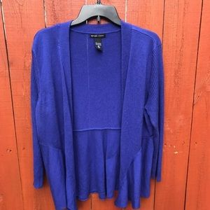 XL blue drape cardigan